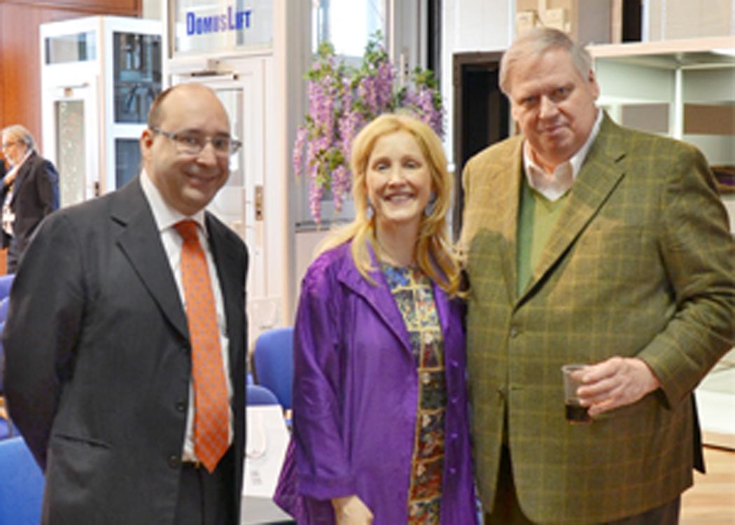 Ing. Matteo Volpe und Maria Volpe in dem IGV showroom zusammen mit Prof. Andrew Lawlor, Koordinator der Forscher der Universität von Michigan