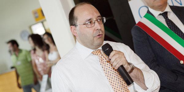 Ing. Matteo Volpe,  IGV Group Geschäftsleiter , während sein Öffnungsgespraech beim Open Day IGV