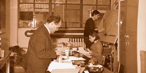 Der Ingenieur 1966 im ersten Büro von IVG in Mailand