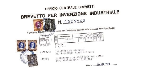 Eines der ersten Industriepatente von IGV